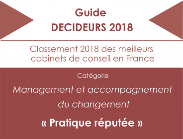 Group classified in the Guide DECIDEURS 2018