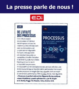 "EDI Mag presents the book ""Process : what the leaders really do"""