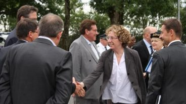 French Minister of Labor Muriel Pénicaud visits the company CAIB