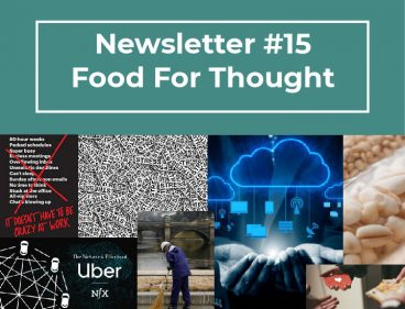 Newsletter #15 – Food for thought