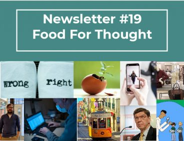 NEWSLETTER #19 – FOOD FOR THOUGHT
